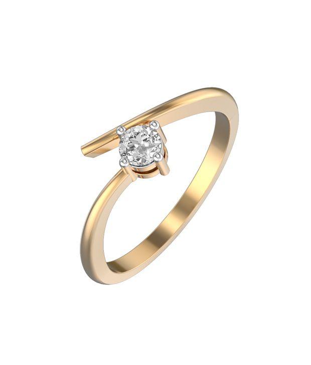 I Love Diamonds EGL Certified 18kt Gold Ring