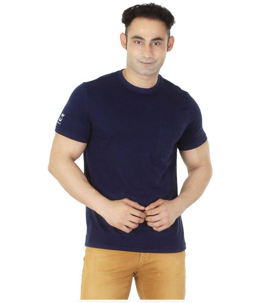 Ishwa Navy Round T Shirt