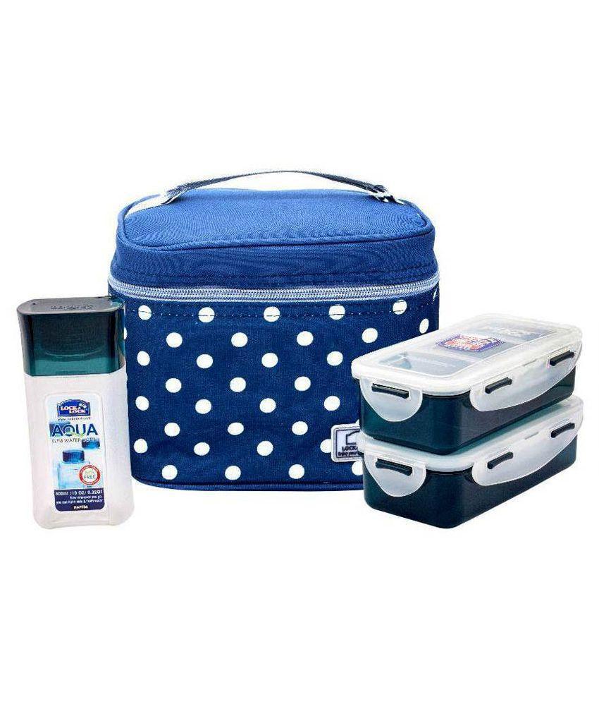Lock & Lock Blue Polypropylene Lunch Box Set