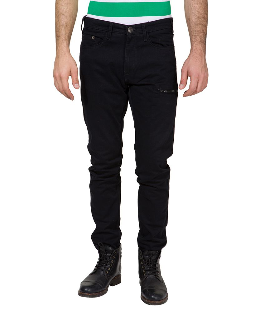 Locomotive Black Slim Fit Trousers