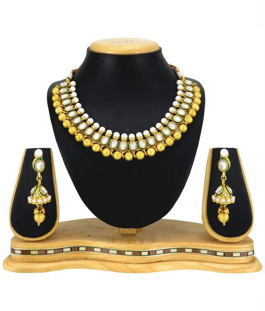 RG Fashions Golden Alloy Necklace Set