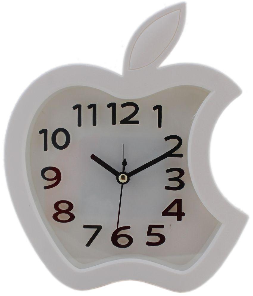 tootpado white apple analog alarm clock buy tootpado white apple analog alarm clock at best. Black Bedroom Furniture Sets. Home Design Ideas