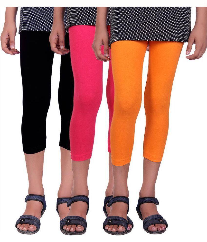 Alisha Cotton Multicolour Capri - Pack of 3