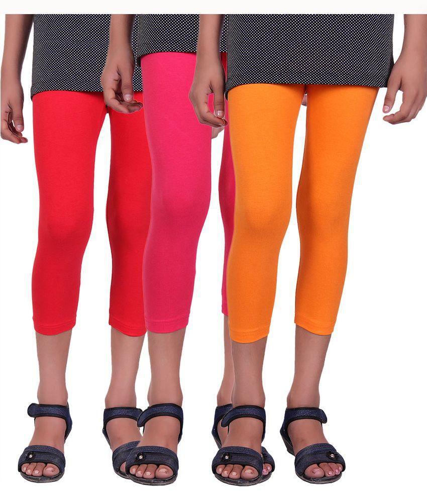 Alisha Multicolor Capris - Pack of 3