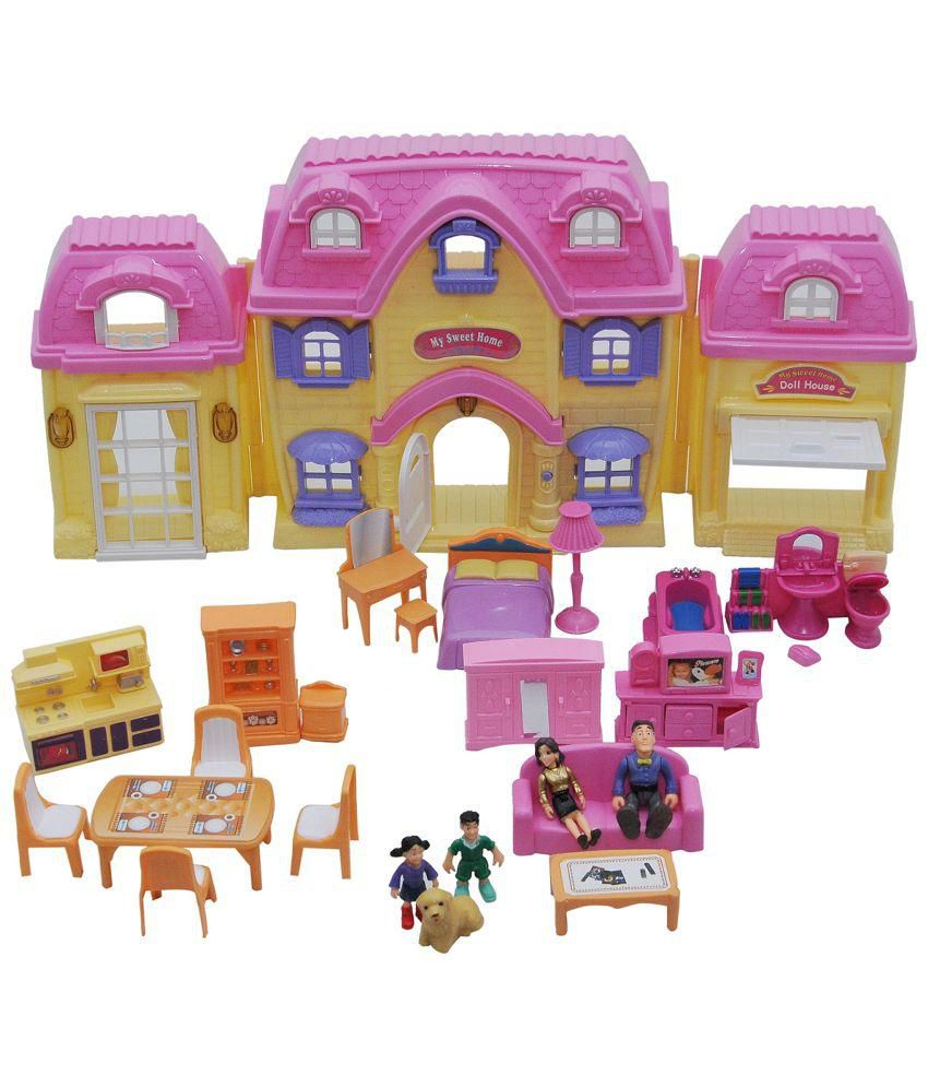 Happy Kids Happy Kids Multicolour Doll House Set