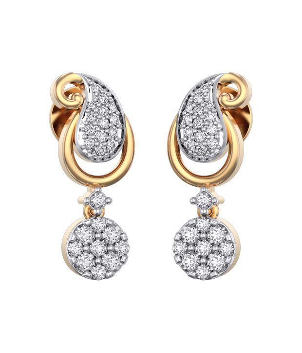 I Love Diamonds 18kt Gold Diamond Drop Earrings
