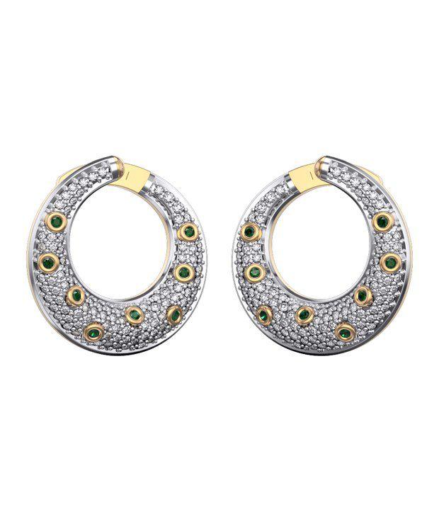I Love Diamonds 18kt Gold Swarovski Earrings