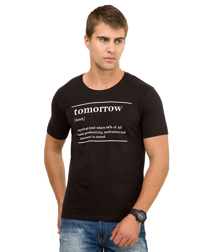 Locomotive Black Round Neck T Shirt