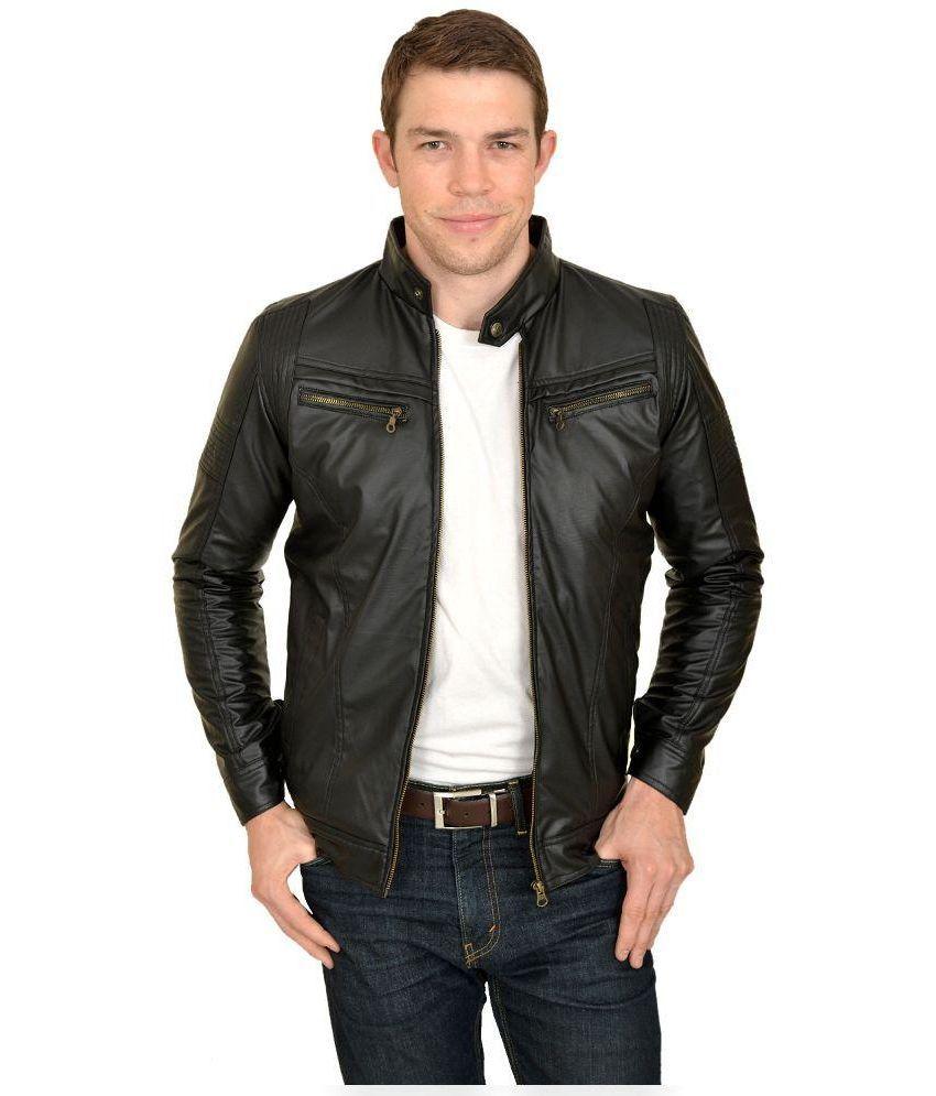 Urbano Fashion Black Leather Jacket - Buy Urbano Fashion Black ...