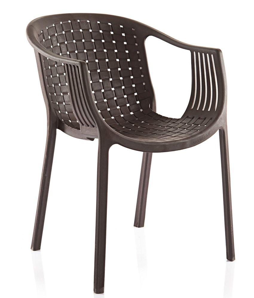 Varmora Designer Chair Set Of 4 Ola Netted Brown