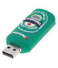 Microware Heineken Bottle Shape 16 GB Pen Drives Turquoise