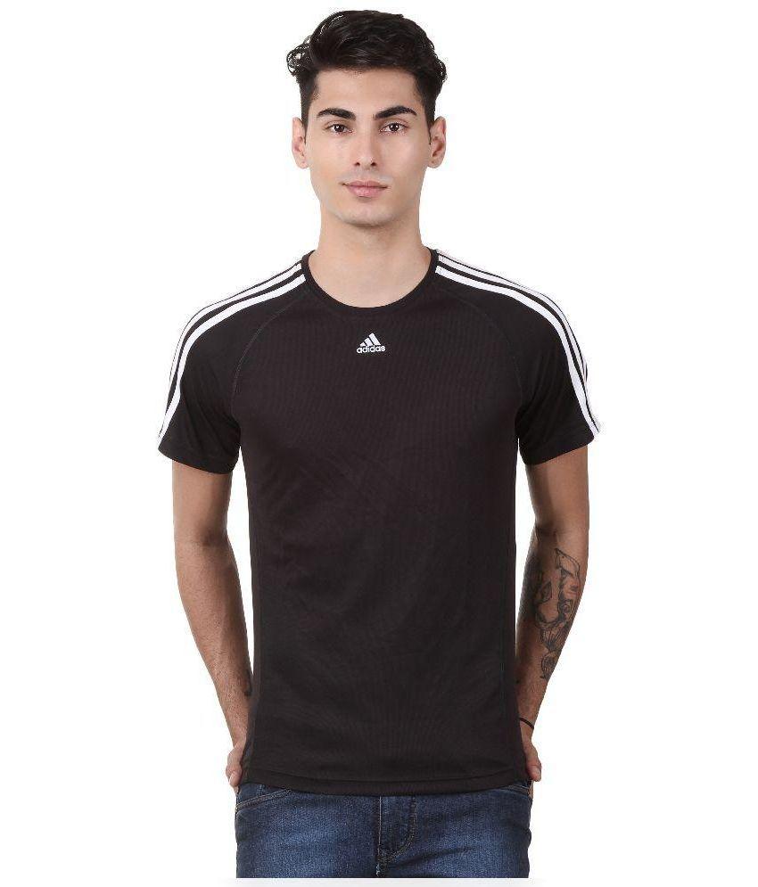 Adidas Black Round T Shirt