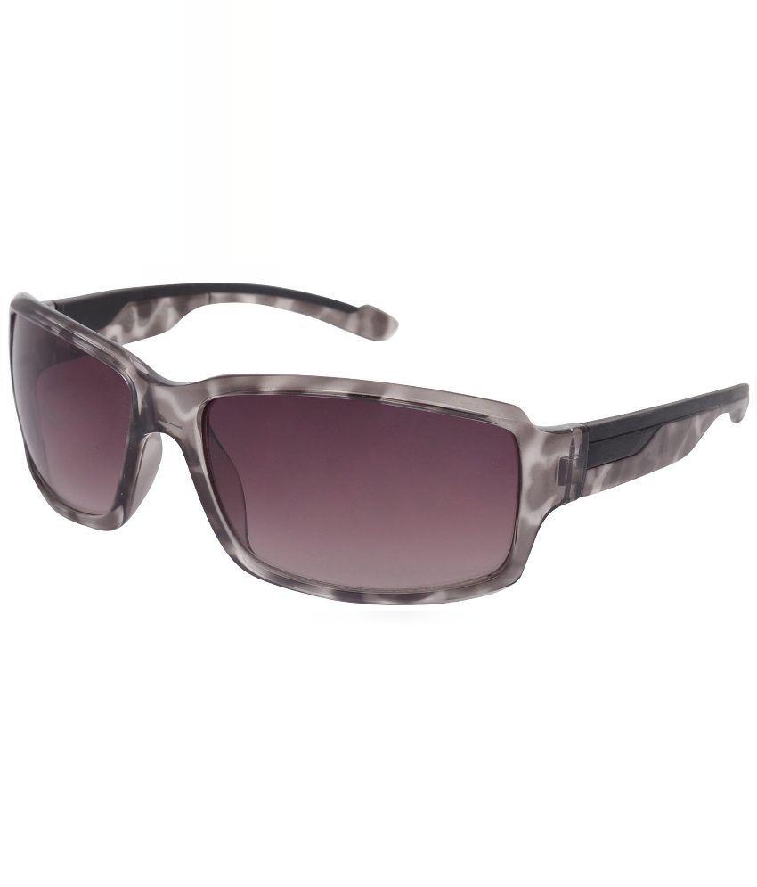 Aks Purple Rectangle Sunglasses ( Aks139 )