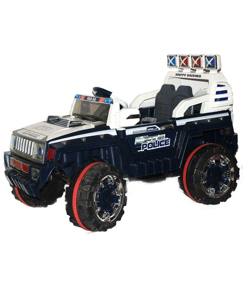Brunte Blue Plastic Police Car