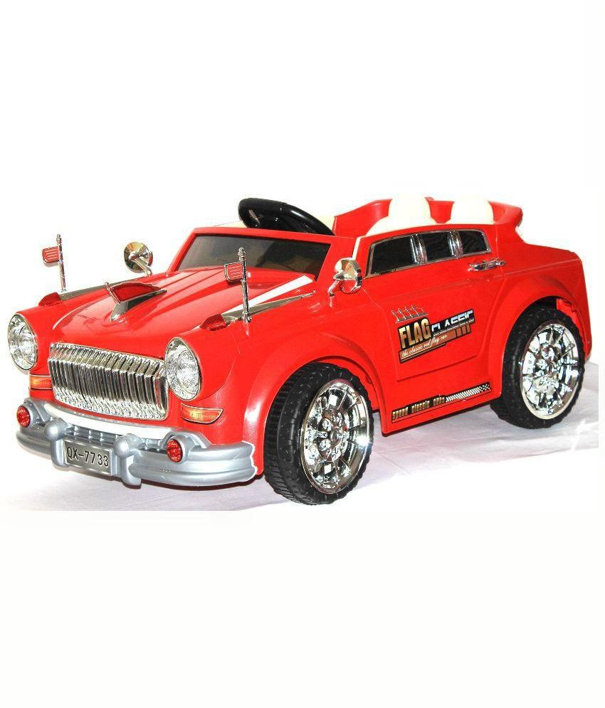 Brunte Red Plastic Vintage Car