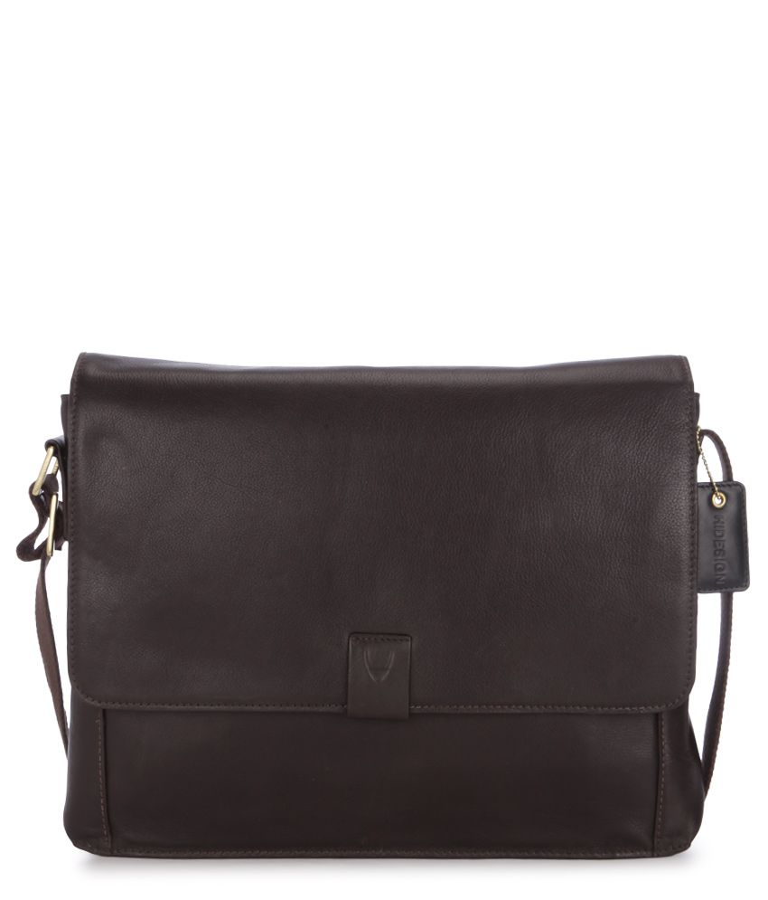Hidesign Aiden 01 Brown Leather Messenger Bag
