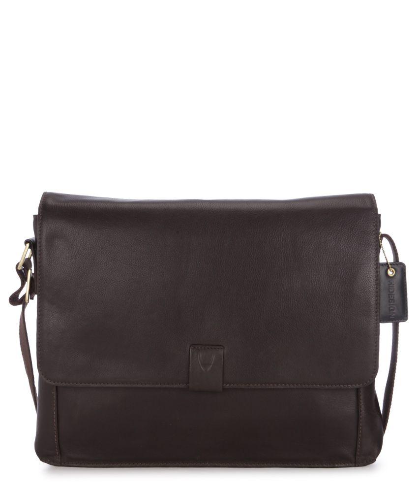 Hidesign Aiden 01 Brown Leather Messenger Bag