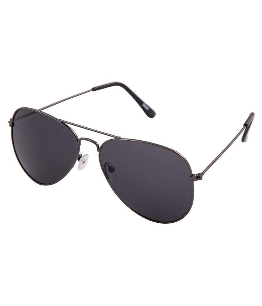 KT Collection Black Aviator Sunglasses ( KTSG002 )