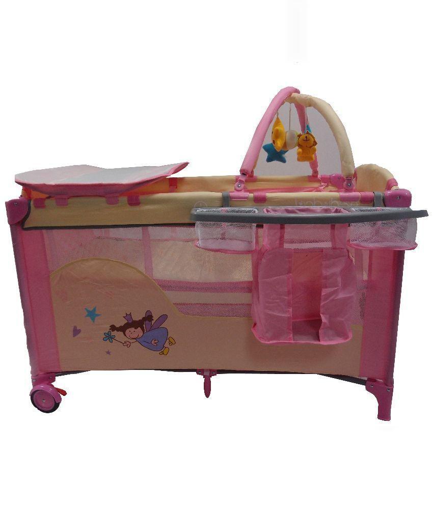 Kiddale Pink and Beige Polyester Bassinet