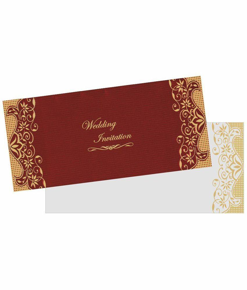 King Of Cards Maroon Wedding Invitation Card Buy Online At Best