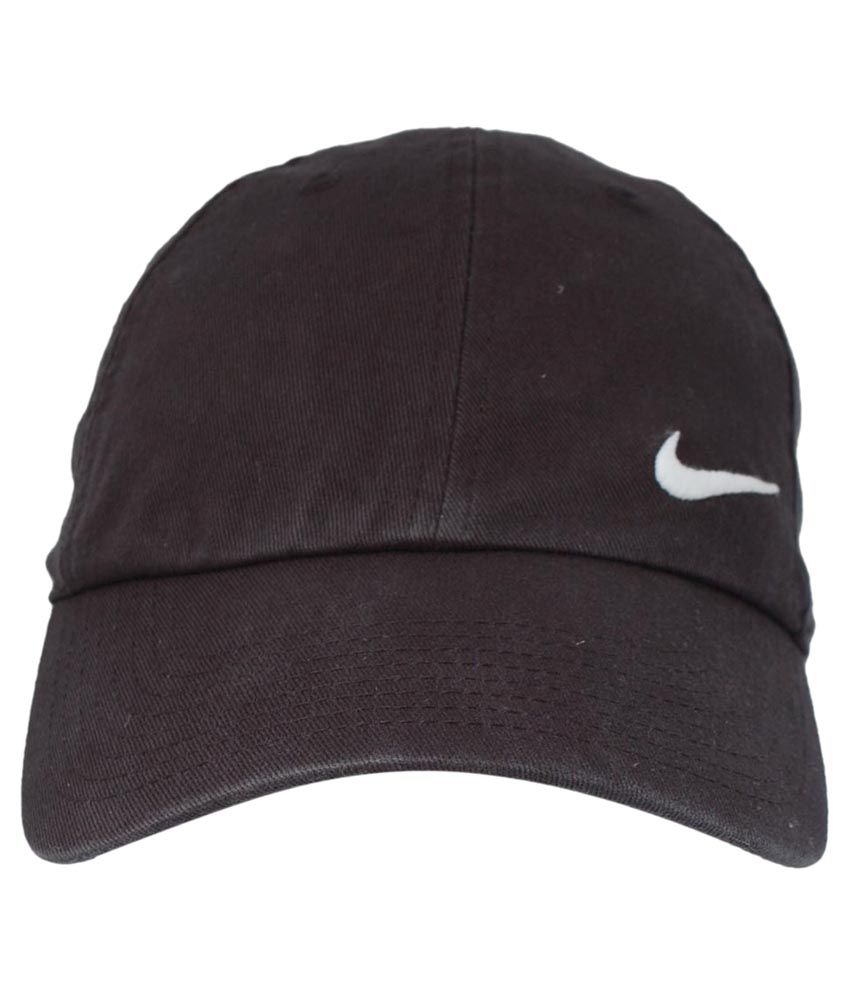 dd7e1bac8 Nike Black Cotton Cap for Men - Buy Online @ Rs. | Snapdeal