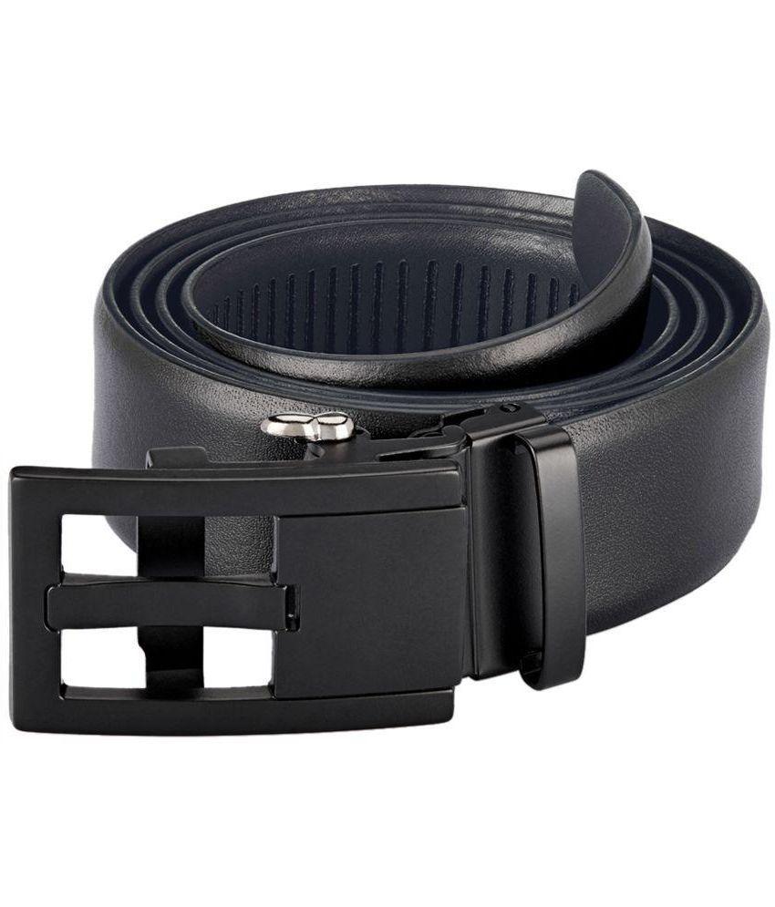 Park Avenue Black Leather Formal Belt for Men