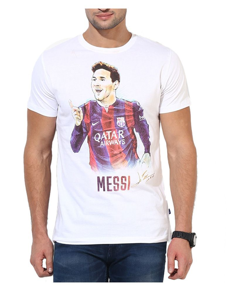 Barcelona T Shirt Mens Messi Round Neck 61