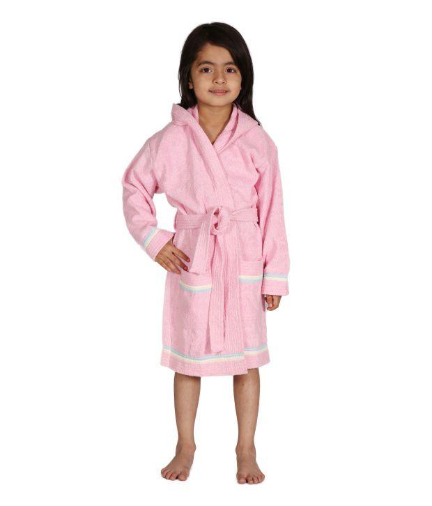 Mumma's Touch Organic Kids Hooded Bathrobe-Pink