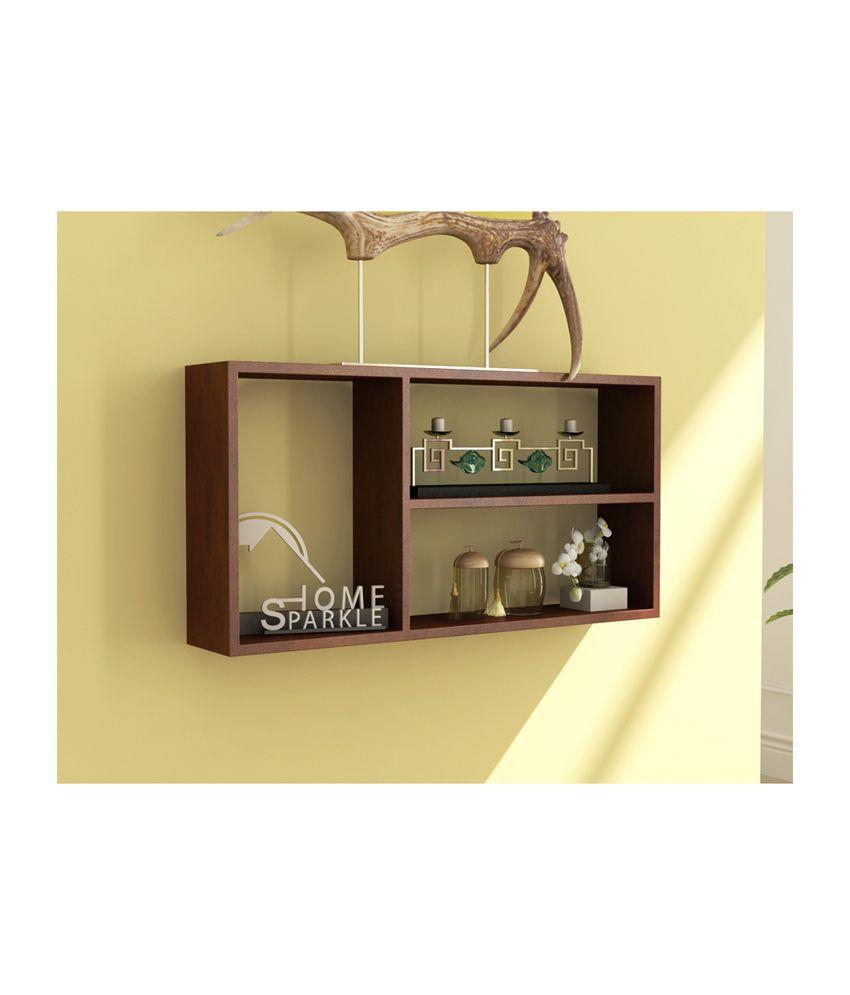 Trendy Ile Brown Square Floating Shelf/ Wall Shelf / Book Shelf ...