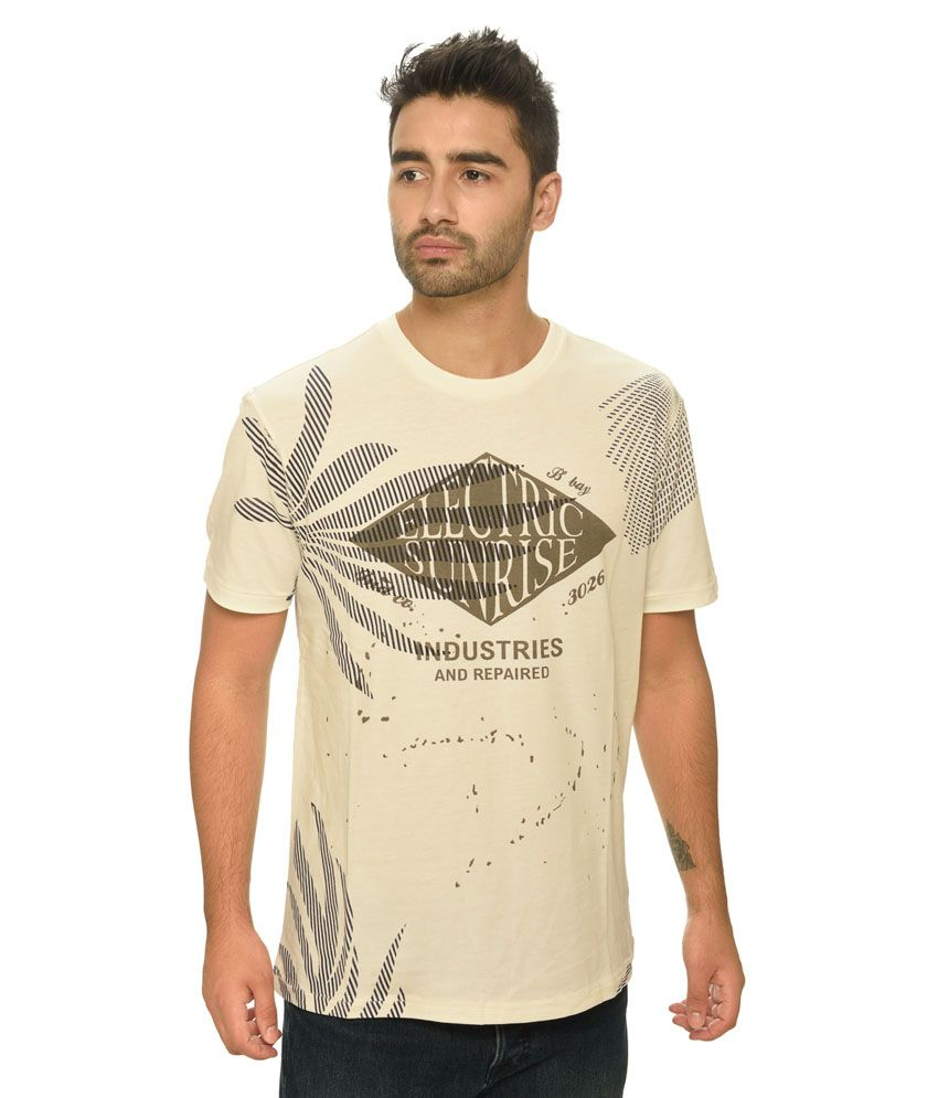 Be Pure Off-White Round T Shirt
