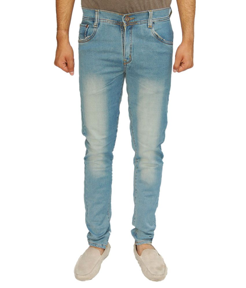 Bows & Arrows Blue Slim Fit Faded Jeans