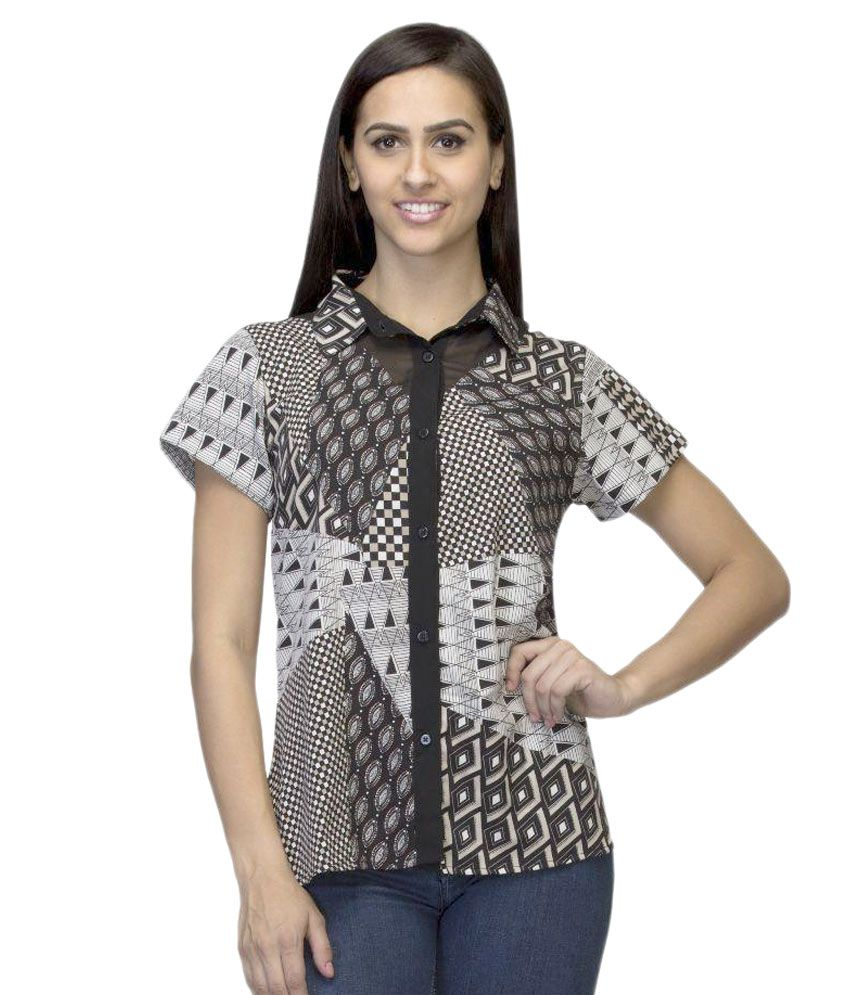 Dressing Daddy Multi Color Poly Georgette Shirts