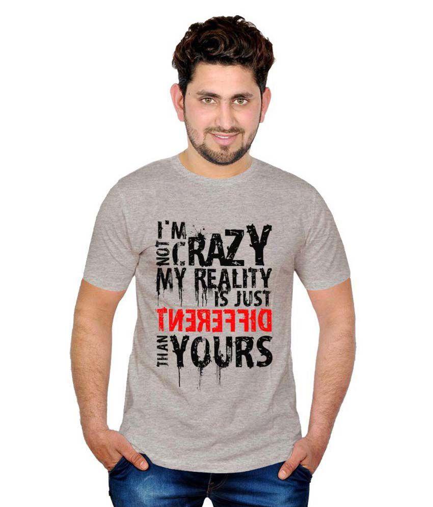 INKIT Grey Round T Shirt