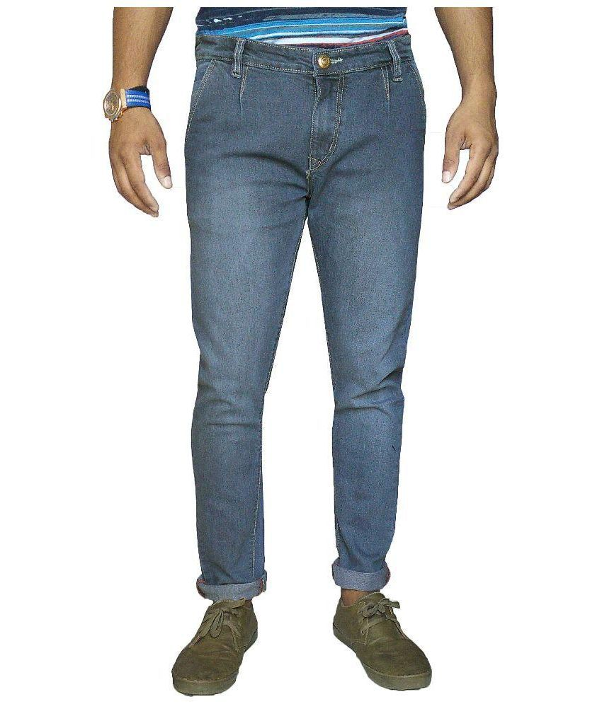 Oiin Blue Slim Fit Washed Jeans
