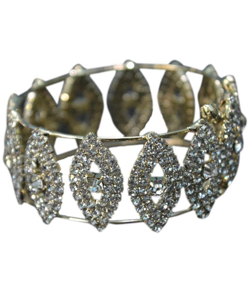 Royal Jewellers White Alloy Bangle