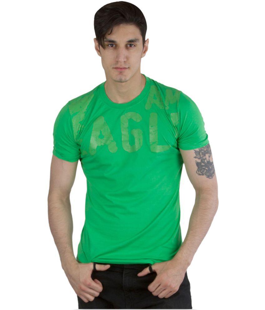 WC Fashion Green Round T Shirt
