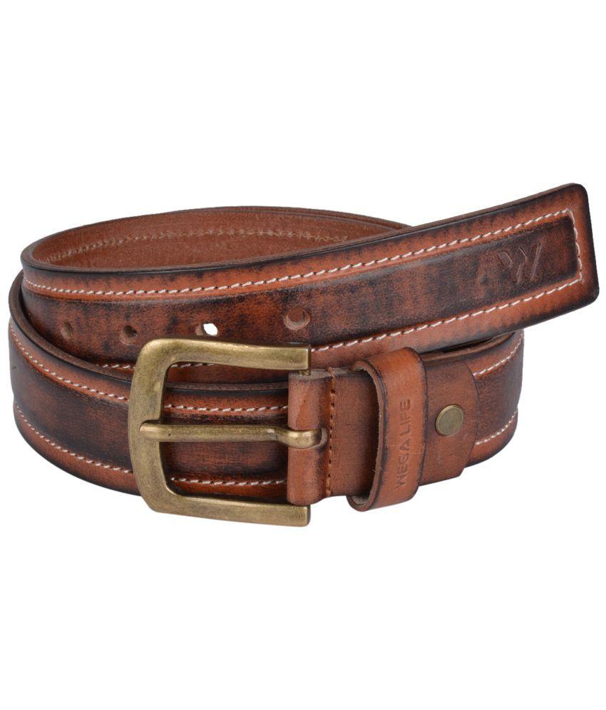 Wega Life Brown Leather Belt