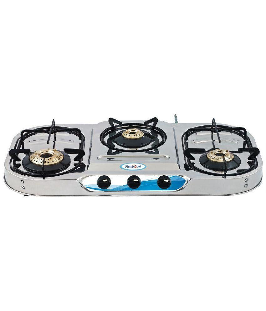 Flamingold Oval 303 SS 3 Burner Gas Cooktop