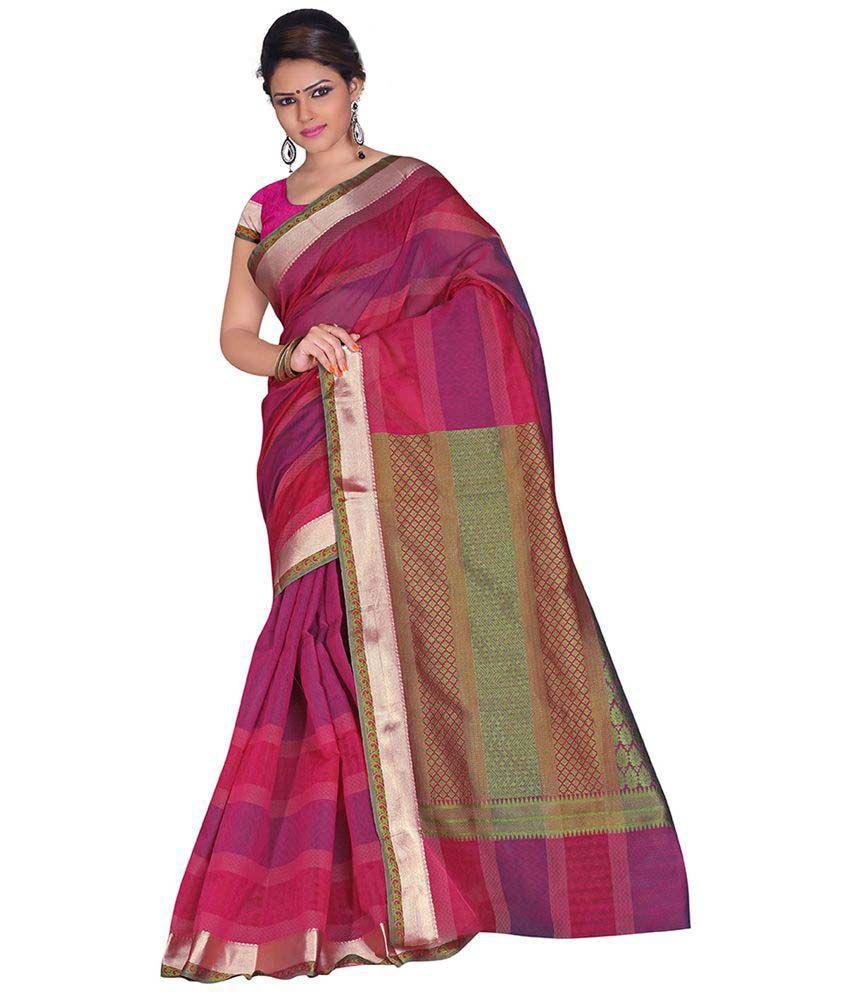 Anusha Multicoloured Cotton Saree