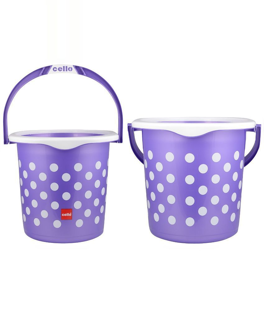 Plastic bathroom sets -  Cello Purple 6 Piece Fusion Plastic Bathroom Set