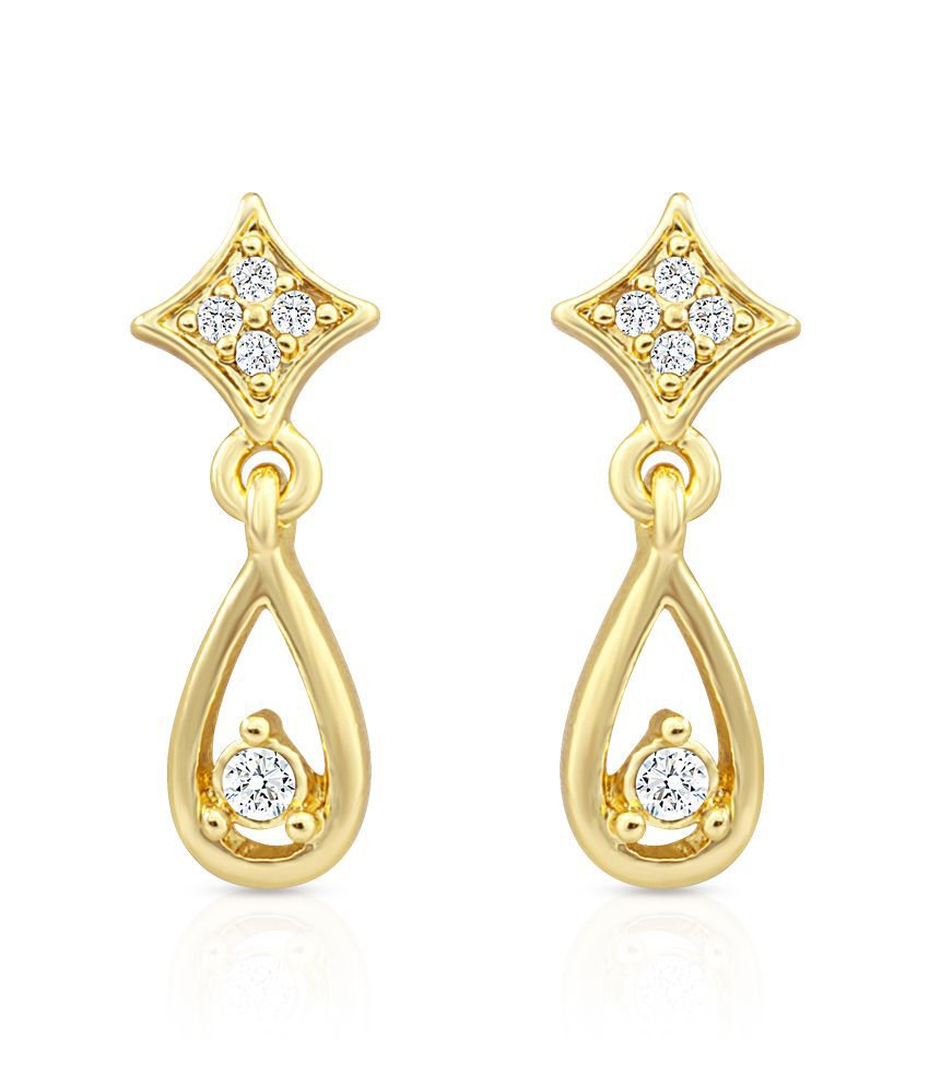 Oviya Golden Hanging Earrings