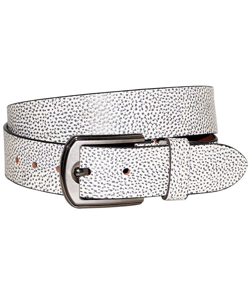 Hadwin Silver Leather Casual Belt
