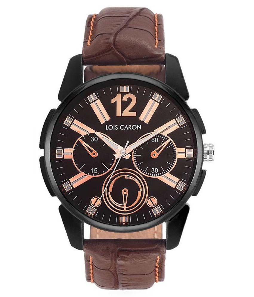 7300631cdf72 Lois Caron Brown Analog Wrist Watch - Buy Lois Caron Brown Analog Wrist  Watch Online at Best Prices in India on Snapdeal