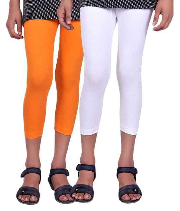 Alisha Multicolour Cotton Capri for Girls - Pack of 2
