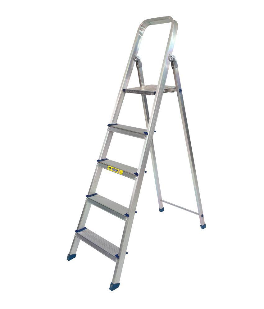 Dolphin Pro Aluminium Folding 5 Feet (4 Step + Platform) DIY Ladder