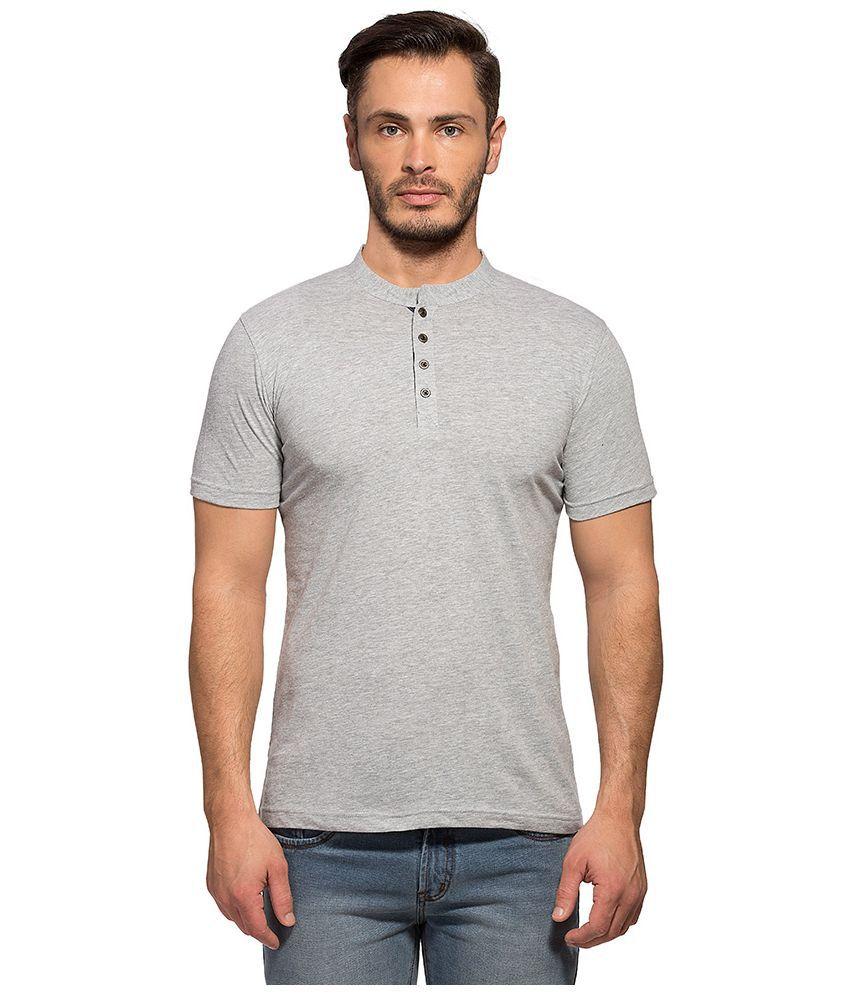 Maniac Grey Henley T Shirt