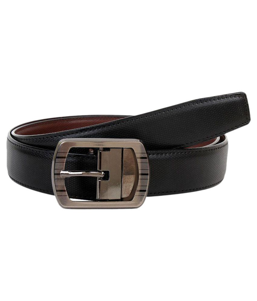 ZAB Black Leather Belt for Men