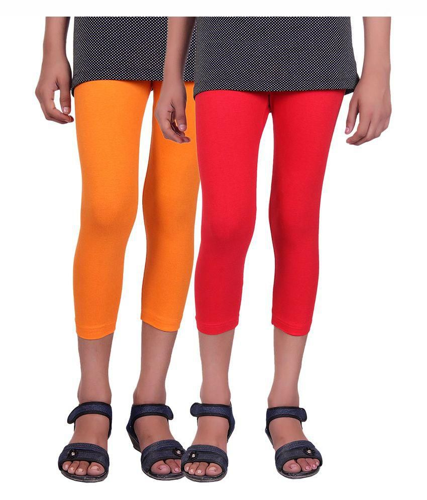 Alisha Multicolour Cotton Capri - Set of 2