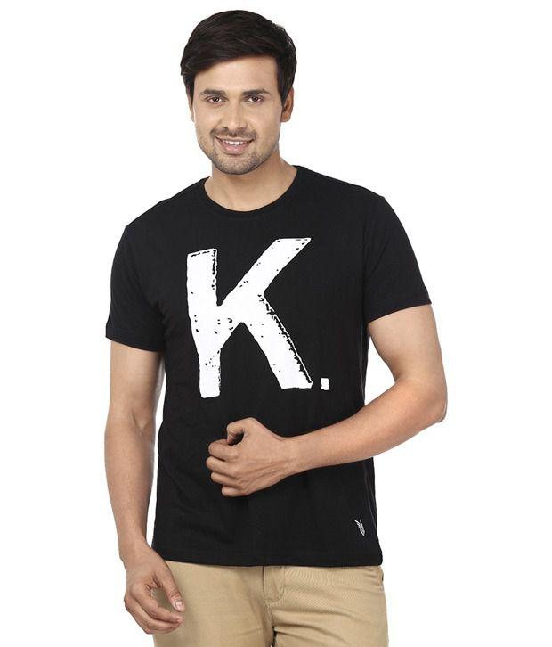 Ruse Black Round T Shirts No