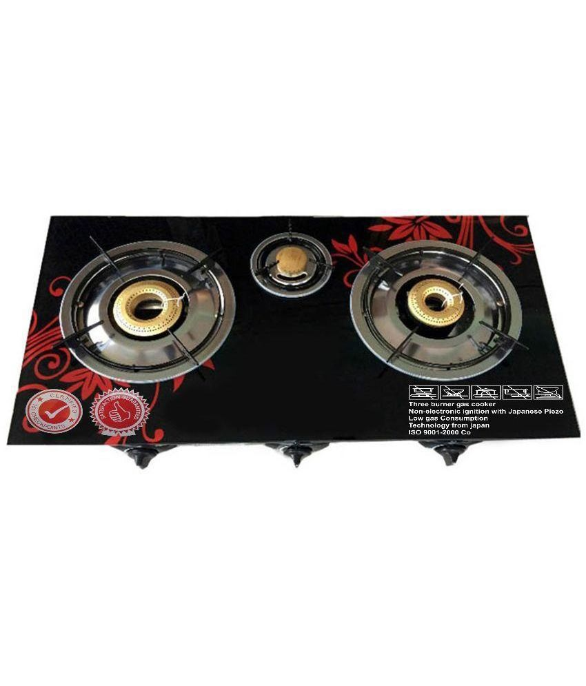 Surya Honey 206 Auto Ignition Gas Cooktop (3 Burner)
